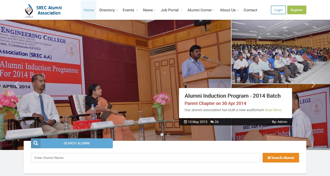 SREC Alumni Association - Revamped Website