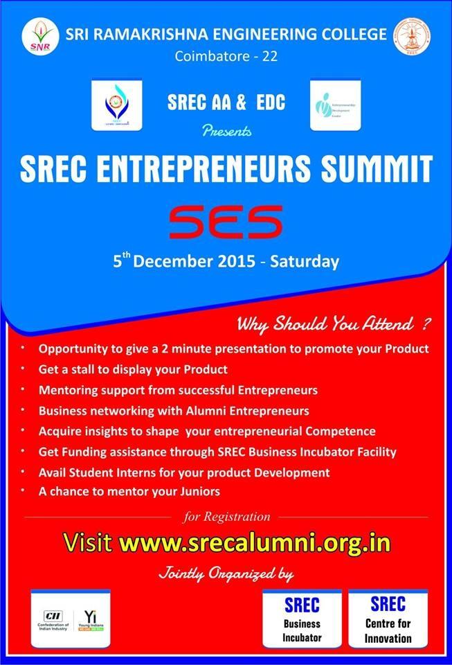 SREC Entrepreneurs Summit by SRECAA & EDC